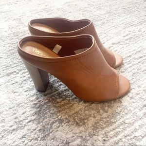 Mossimo Slip On Brown Heels 8.5